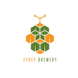 Cyber brewery vector concept with abstract Stock Photos