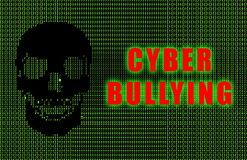 Cyber Bullying. Online Web Issue in Ascii Royalty Free Stock Image