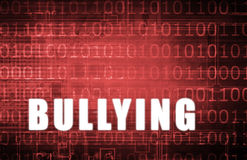 Cyber Bullying. On a Digital Binary Warning Abstract Royalty Free Stock Photos
