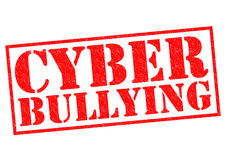 CYBER BULLYING. Red Rubber Stamp over a white background Stock Image