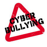 Cyber Bullying rubber stamp Stock Photos