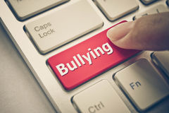 Cyber bullying. / Social media witch hunting concept royalty free stock photo