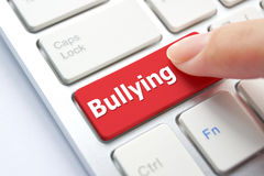 Cyber bullying. / Social media witch hunting concept stock photo