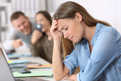 Free Cyber Bullying Victim Being Photographed At Office Stock Photography - 97481952