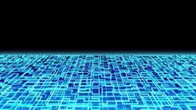 Cyber Circuit moonlight stock video footage