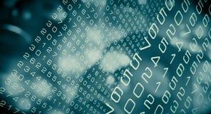 Cyber colleghi la rete neurale, elaborazione dei dati digitale del Cyberspace illustrazione vettoriale
