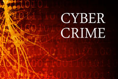 Cyber Crime Abstract. Background in Red and Black Stock Photography