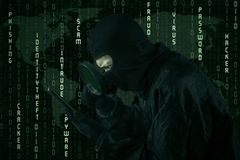 Cyber crime activity Stock Photography
