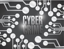 Cyber crime circuit illustration design Stock Photo
