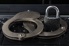 Cyber crime concept Royalty Free Stock Photos