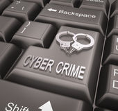 Cyber Crime , Keyboard concept Stock Images