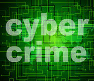 Cyber Crime Means World Wide Web And Criminal Royalty Free Stock Photos