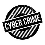 Cyber Crime rubber stamp Royalty Free Stock Image