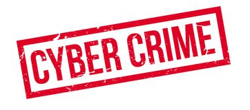 Cyber Crime rubber stamp Royalty Free Stock Images