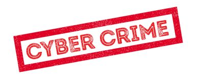 Cyber Crime rubber stamp Royalty Free Stock Photo