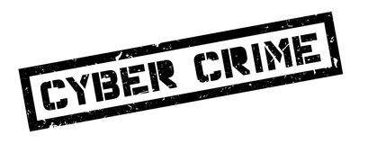Cyber Crime rubber stamp Stock Photography