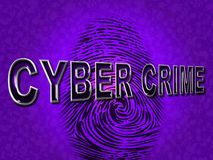 Cyber Crime Shows Malware Threat And Malicious Royalty Free Stock Photography
