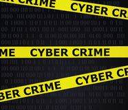 Cyber crime tape royalty free illustration