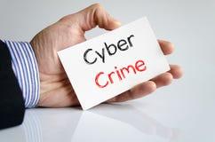 Cyber crime text concept Stock Photo