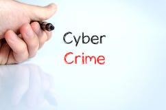 Cyber crime text concept Stock Photos
