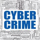 Cyber crime word cloud. Creative illustration of idea word lettering typography . 3D rendering Royalty Free Stock Photo