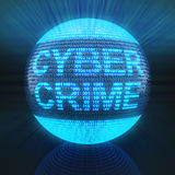 Cyber crime. Word on globe formed by binary code, 3d render Royalty Free Stock Photography