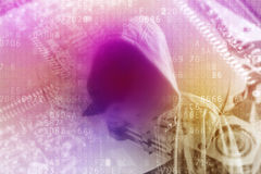 Cyber criminal double exposure Royalty Free Stock Photography
