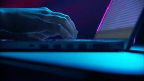 Dangerous hacker attack stock video footage