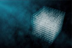 Cyber cube backdrop Royalty Free Stock Photos