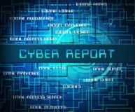 Cyber Cyfrowego analityka Raportowych rezultatów 2d ilustracja royalty ilustracja