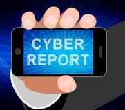 Cyber Cyfrowego analityka Raportowych rezultatów 2d ilustracja ilustracji