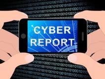Cyber Cyfrowego analityka rezultatów 3d Raportowa ilustracja ilustracji