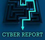 Cyber Cyfrowego analityka rezultatów 3d Raportowy rendering royalty ilustracja