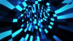 3D Blue Sci-Fi Arificial Intelligence Tunnel - VJ Loop Motion Background. Cyber 3D Blue Sci-Fi Arificial Intelligence Tunnel - VJ Loop Motion Background Backdrop stock footage