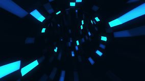 3D Blue Sci-Fi Arificial Intelligence Tunnel - VJ Loop Motion Background V2. Cyber 3D Blue Sci-Fi Arificial Intelligence Tunnel - VJ Loop Motion Background V2 stock video footage