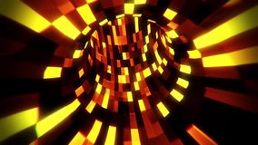 3D Gold Sci-Fi Arificial Intelligence Tunnel - VJ Loop Motion Background. Cyber 3D Gold Sci-Fi Arificial Intelligence Tunnel - VJ Loop Motion Background Backdrop stock footage