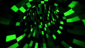 3D Green Sci-Fi Arificial Intelligence Tunnel - VJ Loop Motion Background V2. Cyber 3D Green Sci-Fi Arificial Intelligence Tunnel - VJ Loop Motion Background stock video