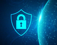 Cyber Data Security Design Royalty Free Stock Photography