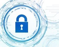 Cyber-Datensicherheits-Design Stockfoto