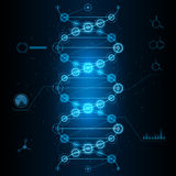 Cyber DNA. Illustration in vector Royalty Free Stock Images