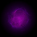 Cyber dots cloud2-01. Abstract vector colorful mesh on dark background. Futuristic style card. Elegant background for business presentations. Corrupted point Stock Images