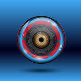 Cyber Eye Ball Logo Royalty Free Stock Image