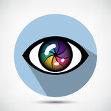 Cyber Eye Icon Stock Images