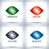 Cyber eye icon set Stock Photography