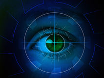 Cyber eye with len Stock Photos