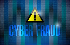 Cyber fraud dark binary background Stock Photography