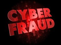 Cyber Fraud on Digital Background. Royalty Free Stock Photo