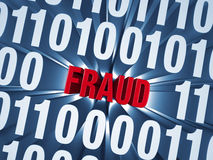 Cyber Fraud Hidden in Computer Code Stock Images