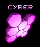 Cyber future icon Stock Images