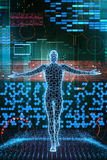 Cyber future man stock illustration